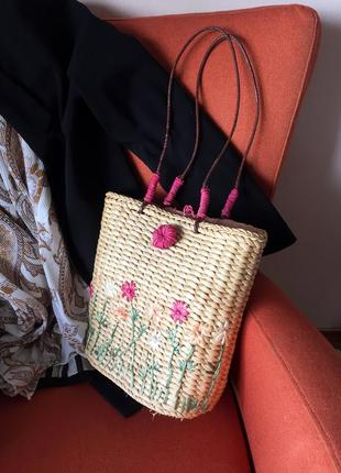 Lollipops_accessories paris _солом'яна сумка з котоновою підкладкою