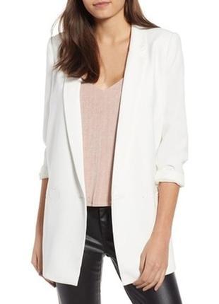 Блейзер удлиненный пиджак жакет оверсайз белый новый