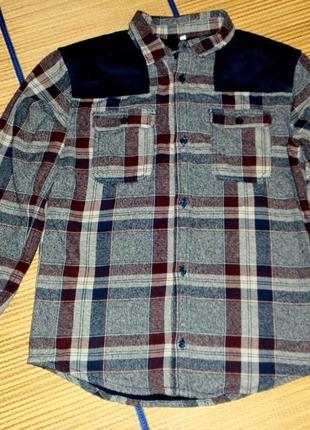 Рубашка теплая для мальчика 12-13лет.