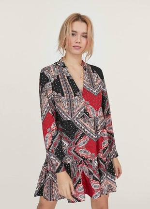 Платье свободного кроя  бохо принт этно качество новое