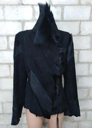 Дизайнерская винтажная дубленка куртка от дома моды exclusive balci на запах