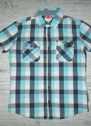 Котоновая рубашка в клетку фирмы lee cooper на 8-9 лет