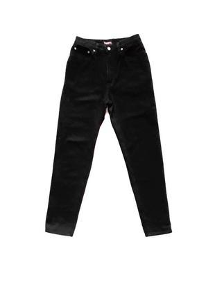 Черные мом mom джинсы на высокой посадке pepe jeans, р.m