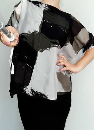 Невесомая туника-блуза, италия 14-20 размер