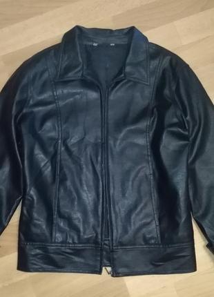 Пиджак кожа, рукав трансформер с обычного на 3/4