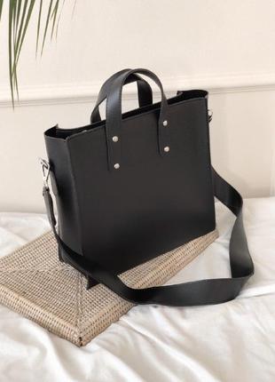 Стильная вместительная сумка-шопер на каждый день romashka