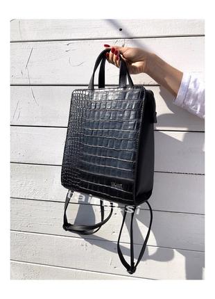 7 цветов! каркасный сумка рюкзак черный крокодил классический на учебу в школу