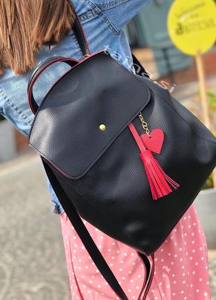 8 цветов! рюкзак сумка черный с красным городской вместительный а4 в школу на учебу