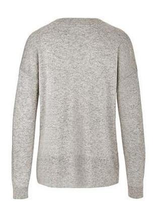Женский стильный свитер узор ромб с содержанием шерсти tchibo3 фото