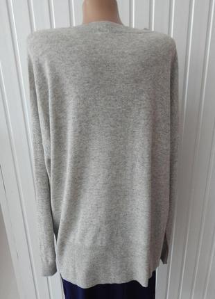 Женский стильный свитер узор ромб с содержанием шерсти tchibo4 фото