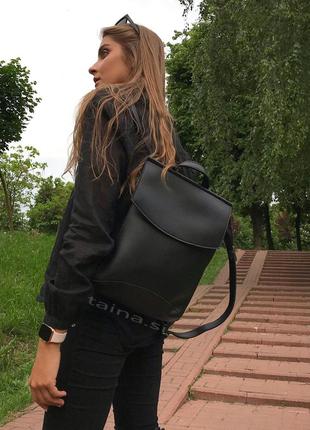 10 цветок! сумка рюкзак черный классический рюкзачок городской а4 в школу на учебу