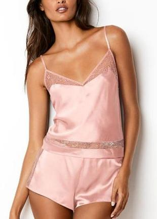 Victoria's secret satin pj m пижама сатин шелк виктория сикрет