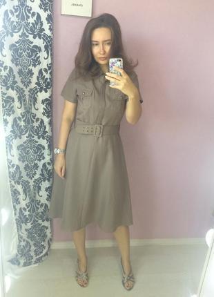 Платье 🐪 в стиле zara сафари бренд сша sharagano mocha