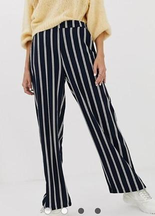 Peacocks. англия! трендовые полосатые брюки палаццо широкие штаны на талию, вискоза