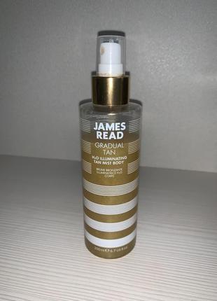 Мерцающий спрей для тела с эффектом автозагара james read h2o illuminating body mist