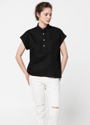 Льняная блуза в бохо стиле mango # хлопковая туника
