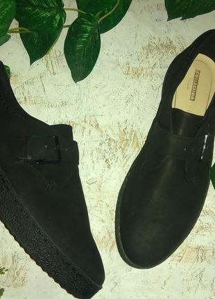 Кожаные туфли полуботинки clarks р 40-40,5