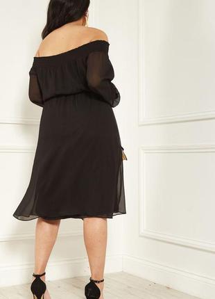 Романтичное платье с оголенными плечами lost ink2 фото