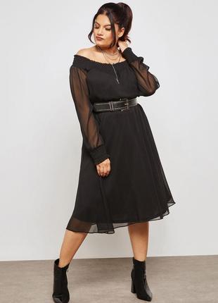 Романтичное платье с оголенными плечами lost ink4 фото