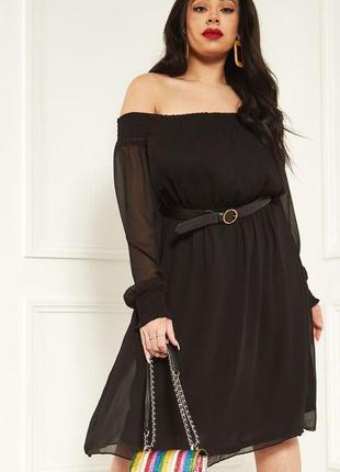 Романтичное платье с оголенными плечами lost ink6 фото