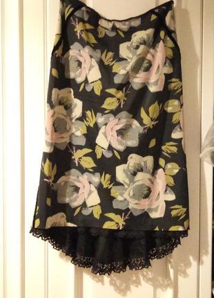 Karen millen люкс бренд,юбка  шелк