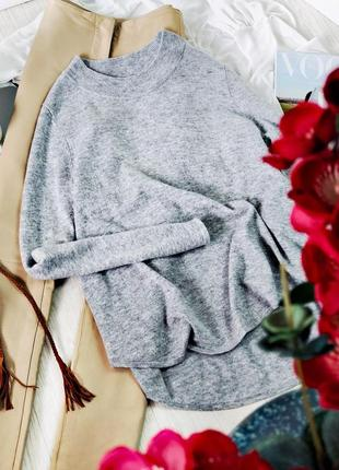 Серый джемпер свободный крой длинный рукав