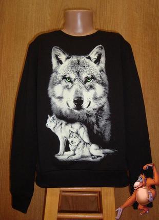 Свитшот подросток волк рисунок светится в темноте