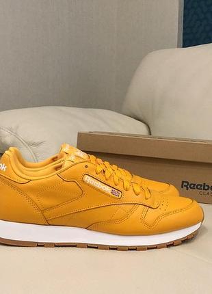 Кожаные оригинальные кроссовки reebok classic cl leather mu