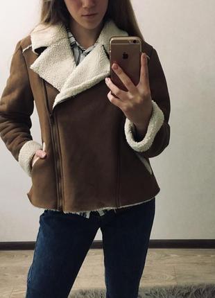 Дубленка дубльонка косуха zara h&m куртка