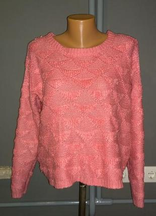 Красивый свитер пуловер джемпер фактурной вязки atmosphere