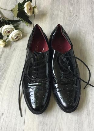 Фирменные кожаные туфли zanon&zago, размер 38
