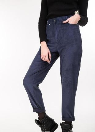 Крутые вельветовые брюки штани джинсы с высокой посадкой
