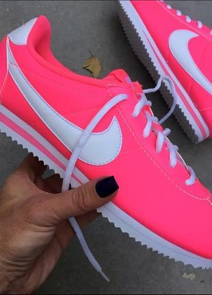 Nike cortez nylon pink оригинальные женские кроссовки