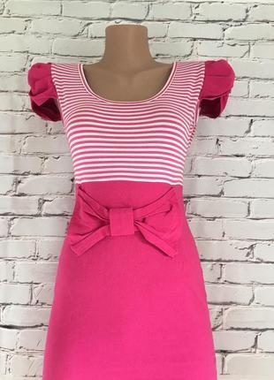Платье розовое с гипюром