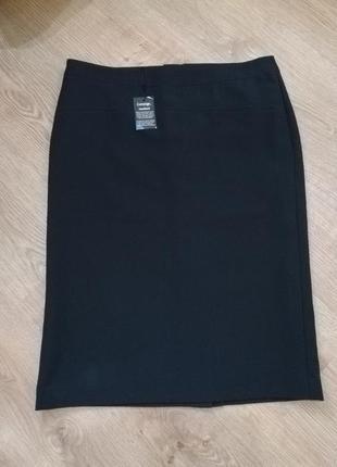Фирменная черная юбка-карандаш