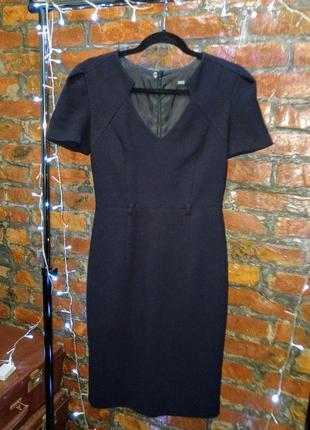 Стильное офисное платье чехол футляр из костюмной ткани marks & spenser