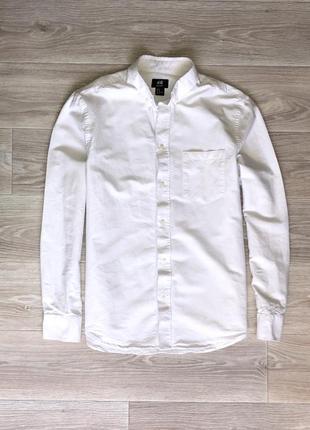 Рубашка h&m (m) white