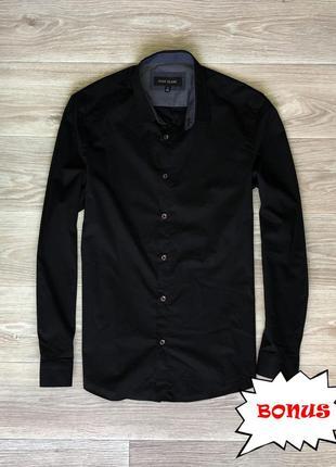 Рубашка river island black (m) bonus