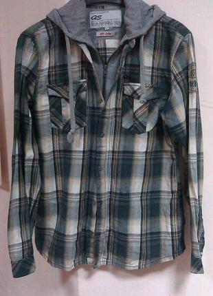Плотная рубашка-кардиган с капюшоном,qs by oliver,размер- l