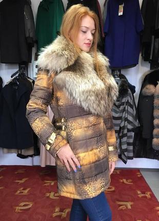 Шакрное теплое пальто куртка