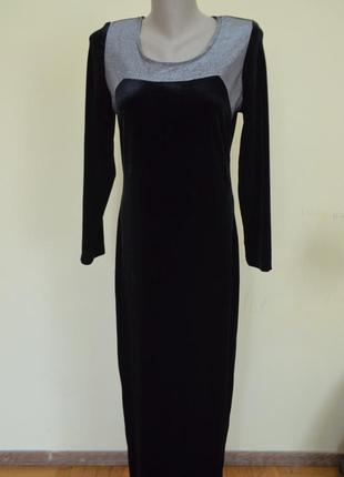 Мега шикарное вечернее бархатное платье длинное