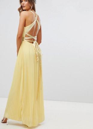 👑♥️final sale 2019 ♥️👑    плиссированное платье с бантом на спине tfnc