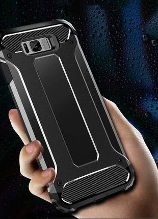 Роскошный противоударный чехол-бампер для samsung galaxy s10 черный