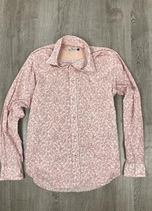 Коктейльная рубашка в цветы