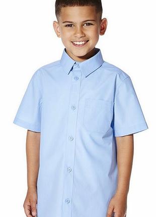Голубые рубашки с коротки рукавом мальчику