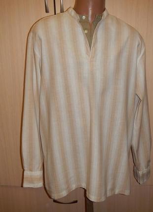Льняная рубашка next p.xl сорочка