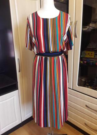 Шикарное платье в полоску