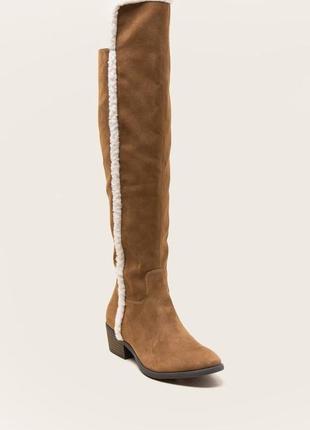 Брендовая обувь/одежда!ботфорты, высокие сапоги francesca's