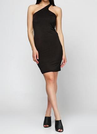 Чорне коктейльне плаття міні miss poem однотонне