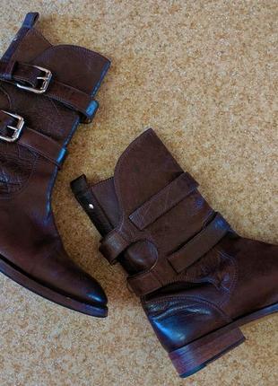 Ботинки сапоги dolce & gabbana в ковбойском стиле